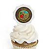 Dinosaur Birthday - Personalized Birthday Party Cupcake Pick and Sticker Kit - 12 ct