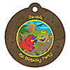 Dinosaur Birthday - Round Personalized Birthday Party Tags - 20 ct