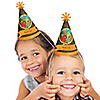 Dinosaur Birthday - Personalized Cone Birthday Party Hats - 8 ct