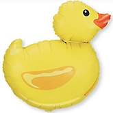 "29"" Ducky - Super Shaped Mylar Baby Shower Balloon"
