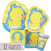 Ducky Duck - Baby Shower Tableware Bundle for 32 Guests