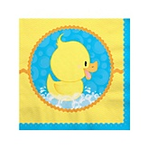 Ducky Duck - Baby Shower Beverage Napkins - 16 Pack