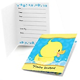 Ducky Duck - Baby Shower Fill In Invitations - 8 ct