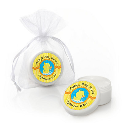 Ducky Duck - Personalized Baby Shower Lip Balm Favors...