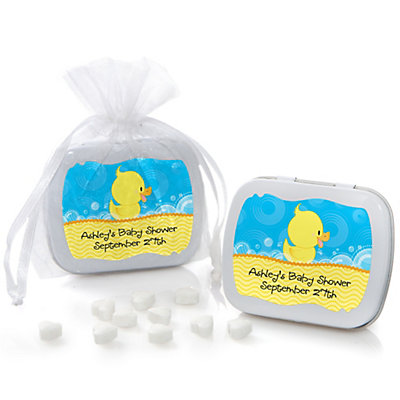 Ducky Duck - Mint Tin Personalized Baby Shower Favors...