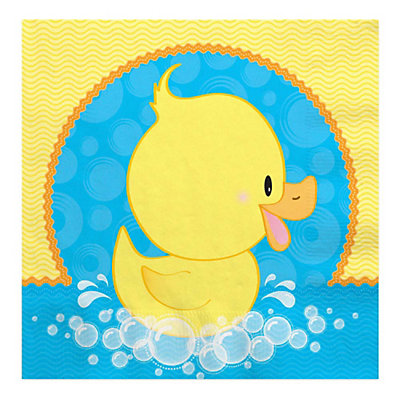 ducky duck baby shower luncheon napkins