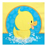 Ducky Duck - Baby Shower Luncheon Napkins - 16 Pack