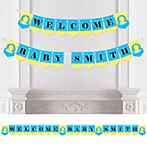 Ducky Duck - Personalized Baby Shower Bunting Banner
