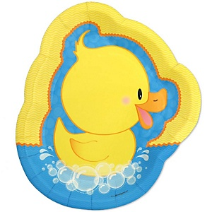 Ducky Duck - Baby Shower Dinner Plates - 8 ct