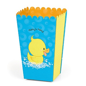 Ducky Duck - Personalized Party Popcorn Favor Treat Boxes