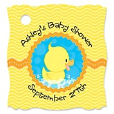 Ducky Duck - Personalized Baby Shower Tags - 20 Count