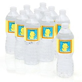 Ducky Duck - Personalized Baby Shower Water Bottle Labels