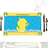 Ducky Duck - Personalized Birthday Party Placemats