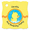 Ducky Duck - Personalized Birthday Party Tags - 20 ct