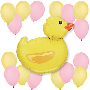 Pink Duck - Baby Shower or Birthday Party Balloon Kit