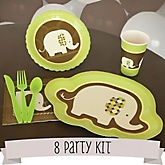 Baby Elephant - 8 Person Baby Shower Kit