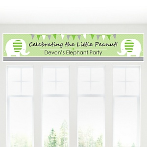 Baby Elephant - Personalized Baby Shower Banner