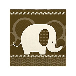Baby Elephant - Baby Shower Beverage Napkins - 16 Pack
