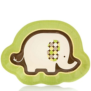 Baby Elephant - Baby Shower Dinner Plates - 8 Pack