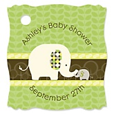 Baby Elephant - Personalized Baby Shower Tags - 20 Count