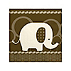 Elephant - Birthday Party Beverage Napkins - 16 ct
