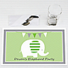 Elephant - Personalized Birthday Party Placemats