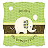 Elephant - Personalized Birthday Party Tags - 20 ct