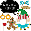 Christmas Elfie Selfie - 20 Piece Christmas Party Photo Booth Props Kit