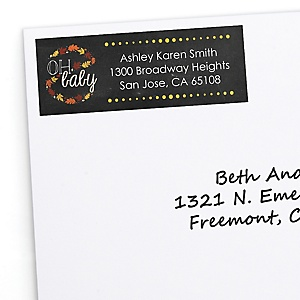 Oh Baby - Fall - Personalized Baby Shower Return Address Labels - 30 ct
