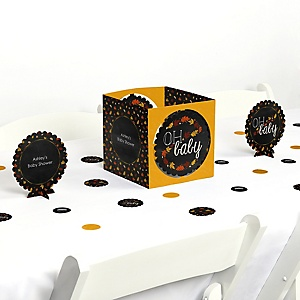 Oh Baby - Fall - Baby Shower Centerpiece & Table Decoration Kit
