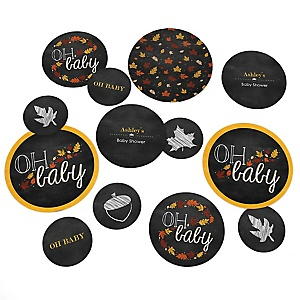 Oh Baby - Fall - Personalized Baby Shower Table Confetti - 27 ct