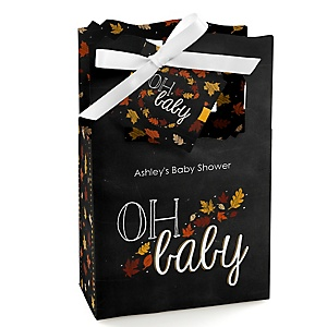 Oh Baby - Fall - Personalized Baby Shower Favor Boxes