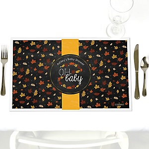 Oh Baby - Fall - Personalized Baby Shower Placemats