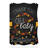 Oh Baby - Fall - Personalized Baby Shower Thank You Cards
