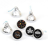 Oh Baby - Fall - Round Candy Labels Baby Shower Favors - Fits Hershey's Kisses - 108 ct