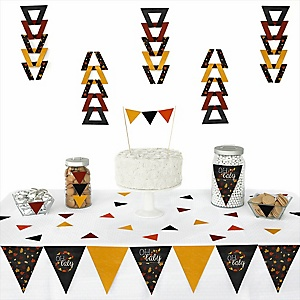 Oh Baby - Fall - 72 Piece Triangle Party Decoration Kit