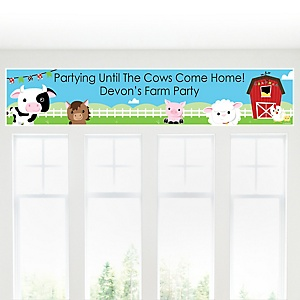 Farm Animals - Personalized Baby Shower Banner