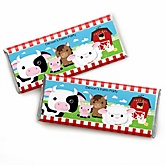 Farm Animals - Personalized Baby Shower Candy Bar Wrapper Favors