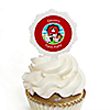 Farm Animals - Personalized Party Cupcake Picks and Sticker Kit - 12 ct