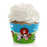 Farm Animals - Baby Shower Cupcake Wrappers