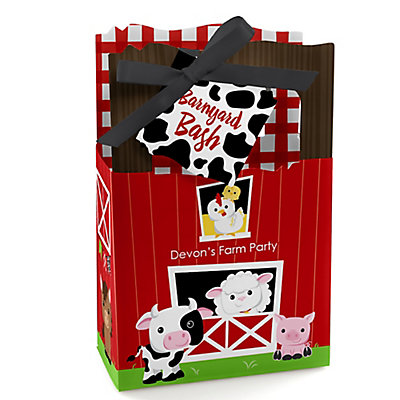 Farm Animals - Personalized Baby Shower Favor Boxes...