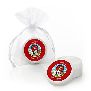 Farm Animals - Personalized Baby Shower Lip Balm Favors