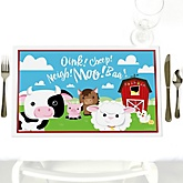 Farm Animals - Personalized Baby Shower Placemats
