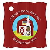 Farm Animals - Personalized Baby Shower Tags - 20 Count