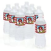 Farm Animals - Baby Shower Personalized Water Bottle Sticker Labels - 10 Count