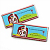 Farm Animals - Personalized Birthday Party Candy Bar Wrapper Favors