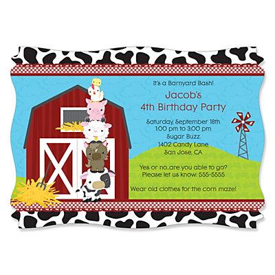 Barnyard Invites for beautiful invitations sample