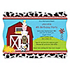 Farm Animals - Personalized Birthday Party Invitations