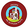 Farm Animals - Personalized Birthday Party Sticker Labels - 24 ct