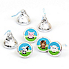 Farm Animals - Round Candy Labels Party Favors - Fits Hershey's Kisses - 108 ct